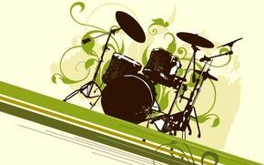 Картинка тарелка, концерт, барабан, установка