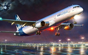 Картинка рисунок, арт, Airbus, жирнов, Узкофюзеляжный реактивный пассажирский самолёт, A321