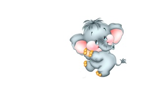 Картинка слоник, танец, настроение, детская, арт