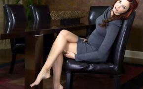 Картинка ножки, на кресле, краса