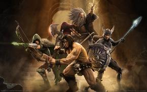 Картинка маг, герои, воины, Gauntlet, стрелок, game wallpapers, файтер
