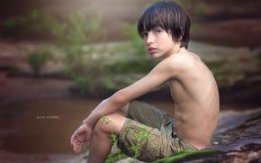 Картинка взгляд, портрет, мальчик