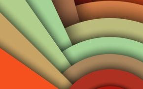 Картинка Android, Circles, Design, 5.0, Line, Colors, Lollipop, Stripes, Abstraction, Material, Hemicycle