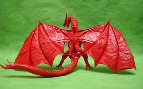 Картинка бумага, дракон, крылья, оригами