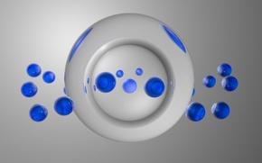 Картинка шарики, синий, прозрачный, графика, украшение, стекляшки