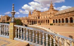Картинка площадь, Испания, центр, Севилья, Андалусия