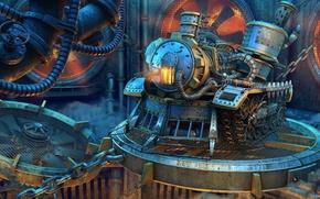 Картинка машина, фантастика, техника, арт, дизель, завод стимпанк, жлезо, *Экспресс Kiev-Neverland*
