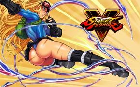 Обои попа, девушка, ноги, удар, боец, Cammy, Street Fighter, Cammy White