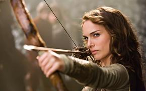 Обои фильм, актриса, лук, натали портман, Isabel Your Highness, храбрые перцем