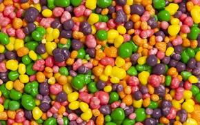 Картинка макро, фон, конфеты