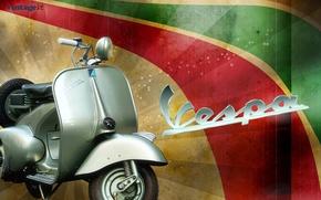 Картинка мотороллер, Piaggio, VESPA, культовый итальянский