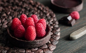 Картинка ягоды, малина, пирожное, Chocolate Raspberry Tart