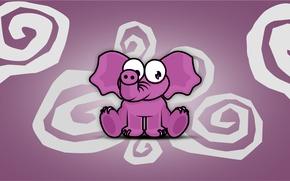 Обои Розовый, Elefant, Spirale, спираль, rosa, Слон