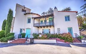 Картинка дом, HDR, лестница, USA, Америка, Houses, Santa Clarita