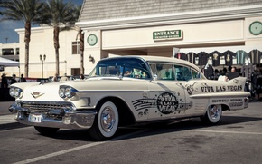 Обои ретро, 1958, Cadillac, классика