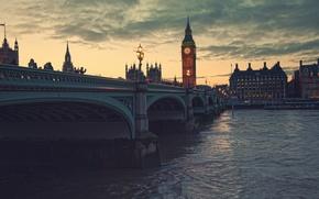 Картинка Лондон, ночь, город