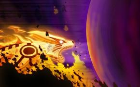 Картинка магия, шар, аниме, демон, арт, наруто, парень, девятихвостый, naruto, kyuubi, uzumaki naruto, marxedp