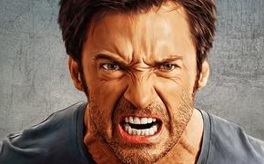 Картинка рендеринг, портрет, Австралия, актер, Hugh Jackman