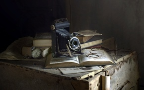 Картинка фон, камера, книга