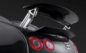 Обои Veyron, спойлер, Bugatti
