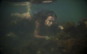 Картинка вода, девушка, ситуация, дно, Milena D