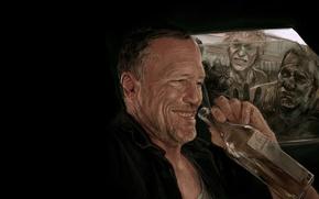 Картинка арт, зомби, zombie, сериал, art, serial, The Walking Dead, Ходячие мертвецы, Мерл Диксон, Merle Dixon, ...