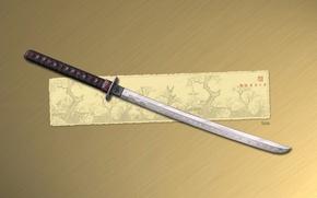 Картинка рисунок, меч, катана