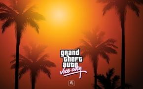Картинка пальмы, надпись, gta, Grand Theft Auto, гта, вайс сити, vice city