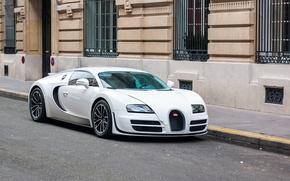 Картинка Bugatti, Veyron, White, Street, Super, Sport