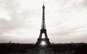Картинка Paris, париж, эйфелева башня, франция, france, город, небо, city