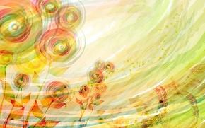 Картинка лето, цветы, абстракция, фон