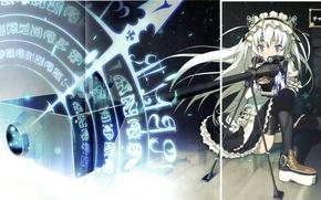 Картинка девушка, оружие, магия, снайперская винтовка, Чайка и гроб, Hitsugi no Chaika, Chaika Trabant