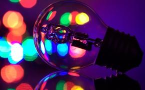 Картинка отражение, лампы, зеркало, светильники