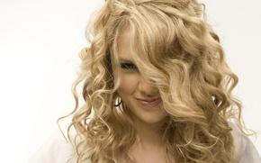 Обои улыбка, актриса, блондинка, певица, Taylor Swift, очаравашка, Тейлор Свифт