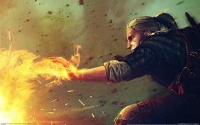 Картинка магия, game, wallpapers, witcher 2, геральт, ведьмак 2