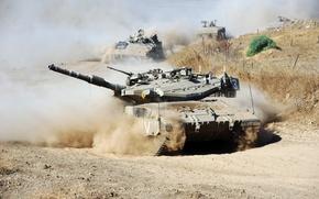 Картинка оружие, движение, танк