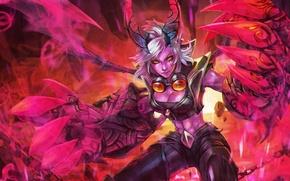 Картинка девушка, руки, lol, League of Legends, Piltover Enforcer, Demon Vi