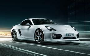 Картинка тюнинг, Porsche, Cayman, Порше, tuning, передок, TechArt, Кайман