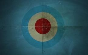 Картинка круги, синий, фон, текстура, мишень