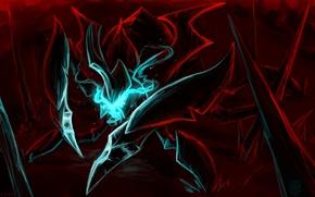 Картинка магия, арт, красный фон, Dota 2, Nyx Assassin, Revan163