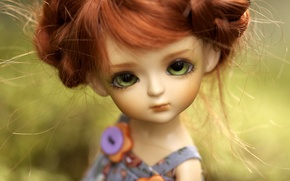 Картинка игрушка, кукла, рыжая, зеленоглазая
