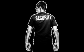 Картинка арт, черно-белое, мужчина, агент, Edward Snowden