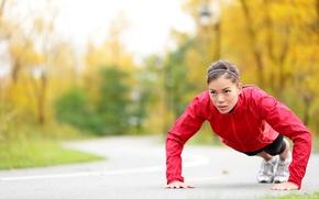 Обои workout, fitness, pushups