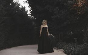 Картинка Девушка, платье, прогулка