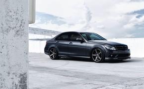 Картинка Авто, Черный, Машина, Тюнинг, Мерседес, Седан, Mercedes Benz, C Class
