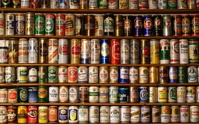 Картинка пиво, красота, банки