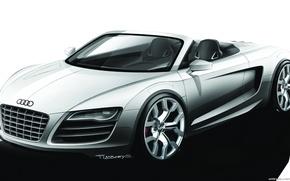 Картинка car, машина, Audi, sketch, cabrio