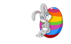 Картинка фон, настроение, праздник, яйцо, арт, Пасха, зайчик, Easter, детская