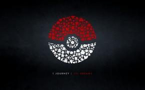 Картинка red, logo, white, Pokemon Go, silhouettes pokemones