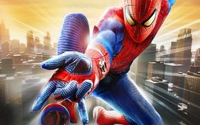 Картинка город, Marvel, The Amazing Spider-Man, Удивительный Человек-паук, Peter Parker, Питер Паркер